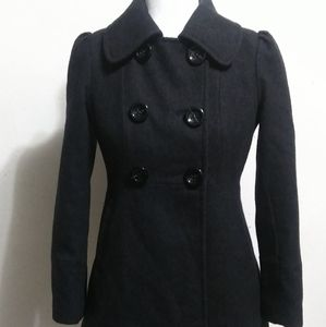 Guess Double Breastfed Charcoal Pea Coat